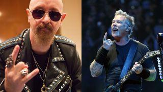 Rob Halford of Judas Priest and Metallica's James Hetfield