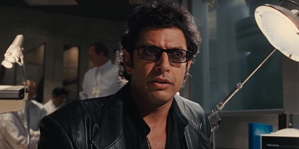 Jeff Goldblum as Ian Malcolm in Jurassic Park
