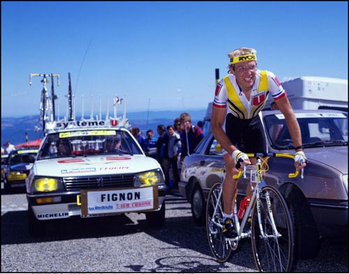 Laurent Fignon climbs Mont Ventoux, Tour de France 1987