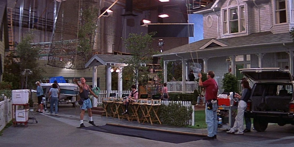 The film set for Stab 3, the film within a film, in Scream 3