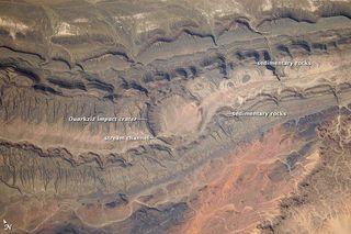 astronaut photograph, impact crater