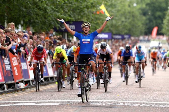 Marta Bastianelli (Italy) celebrates her European title