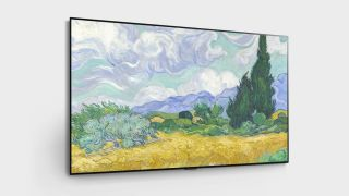 LG G1 OLED with landscape painting