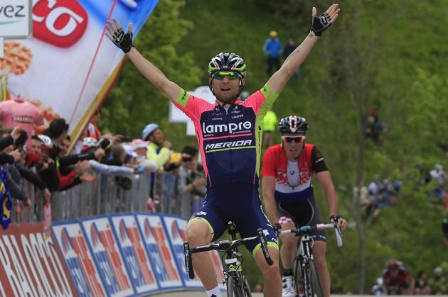 Diego Ulissi wins stage eight of the 2014 Giro d'Italia