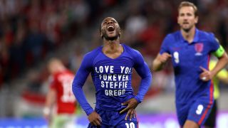England vs Andorra live stream: Raheem Sterling of England celebrates after scoring their team's first goal