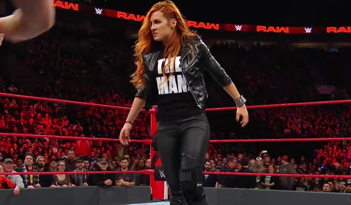 Becky Lynch looking tough Monday Night Raw WWE
