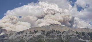 An enormous wildfire in British Columbia in the summer of 2017 sent huge plumes of smoke into the sky.
