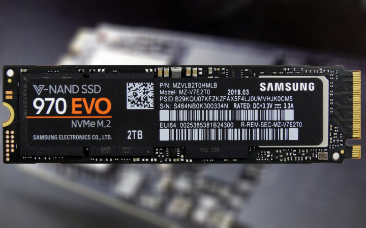 Samsung 970 EVO 500GB MZ-V7E500BW NVMe PCIe M.2 2280 SSD