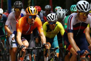 Richie Porte (Australia) in the men's road race at the Tokyo Olympic Games