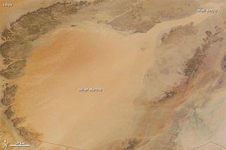Idhan Murzuq sand sea Libya