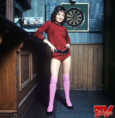 Former go-go dancer Lucille Hewitt was the next behind the bar. She was played by Jennifer Moss