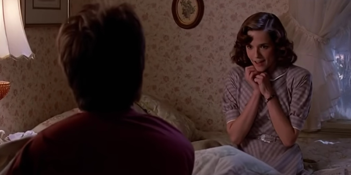 Michael J. Fox and Lea Thompson in Back To The Future