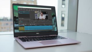 Editing on a laptop