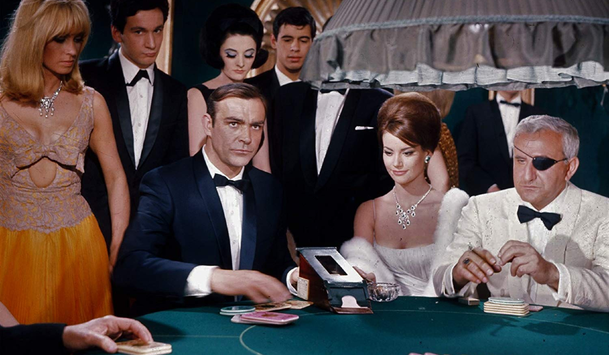 Thunderball Sean Connery plays Baccarat against Adolpho Celli