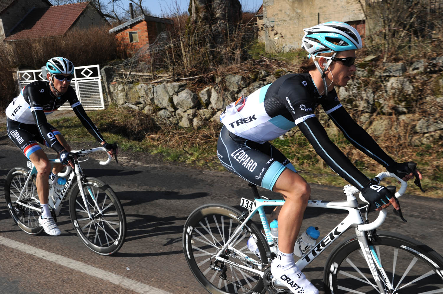 Linus Gerdemann and Frank Schleck, Paris-Nice 2011, stage three