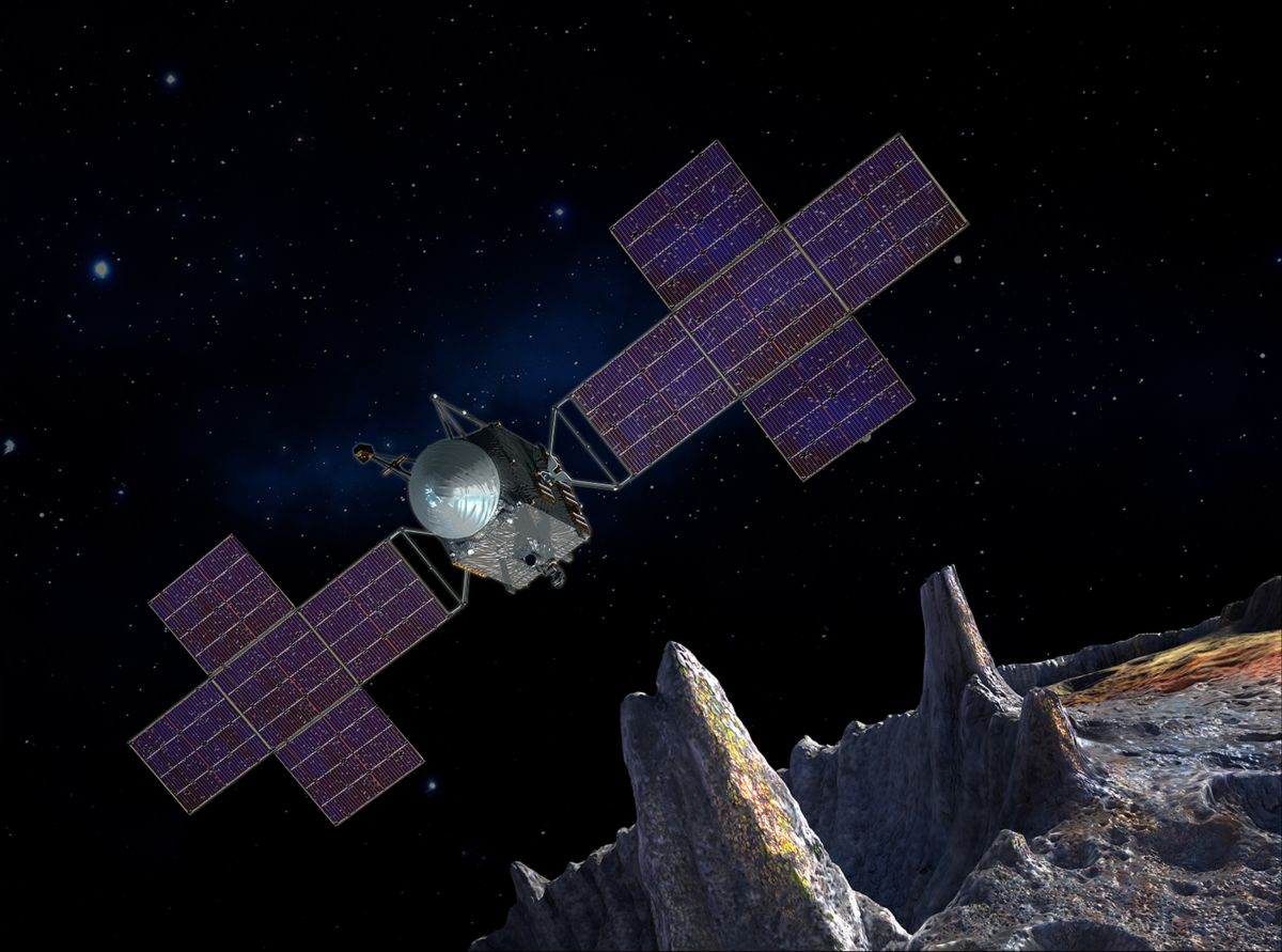 NASA mission to weird metal asteroid Psyche remains on track for 2022 launch