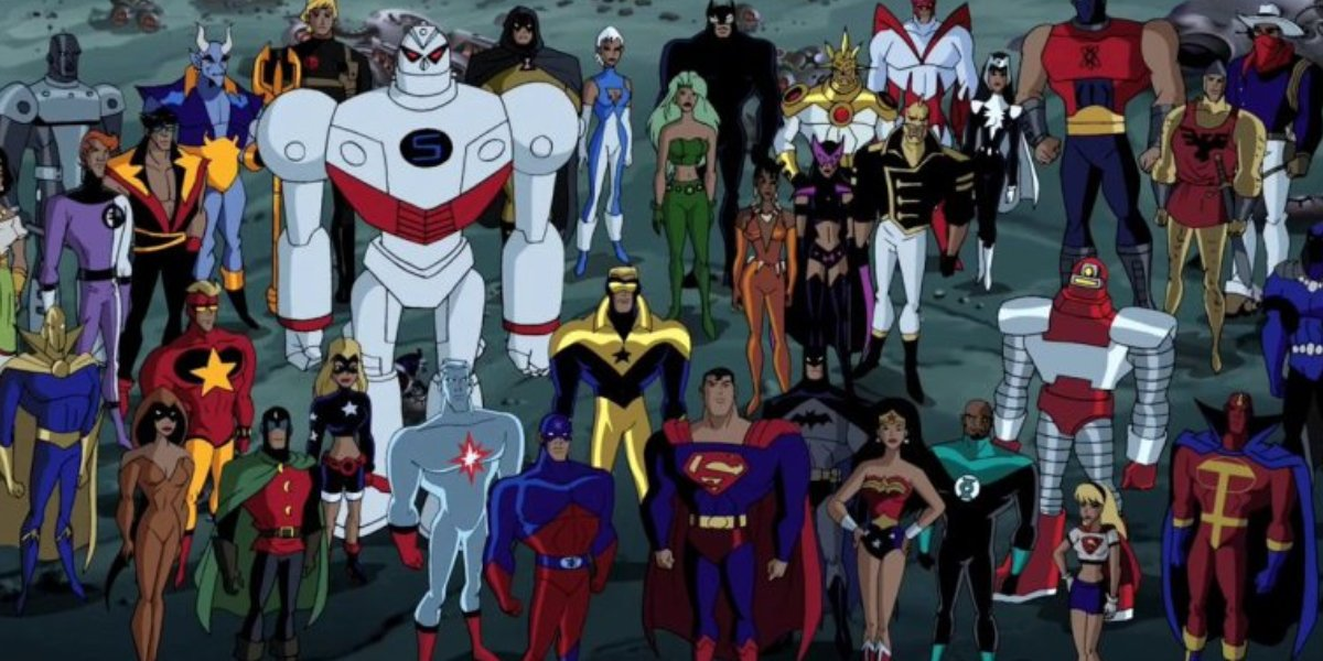 The cast of Justice League Unlimited