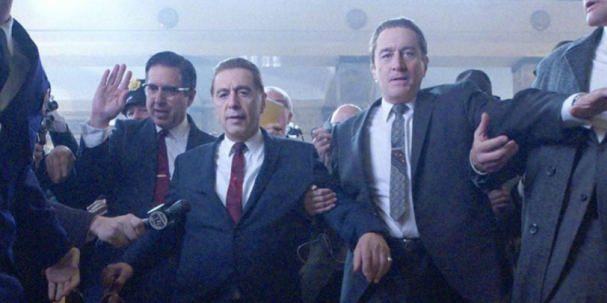 Ray Romano, Al Pacino and Robert De Niro in 'The Irishman.'