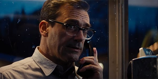 Jon Hamm looking like a superhero alter-ego in Bad Times at the El Royale
