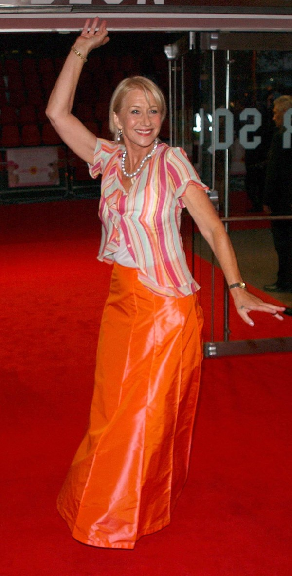Helen Mirren at the UK premiere of Calendar Girls in 2003