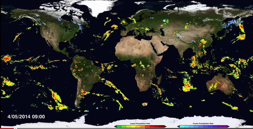 NASA Satellite Captures Amazing 3D Videos of Rain, Snow ...