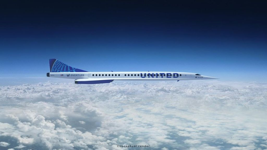 United Airlines wants planes from Boom Supersonic to fly passengers faster than the speed of sound