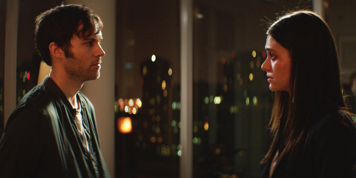 Shawn Christensen and Emmy Rossum in Before I Disappear