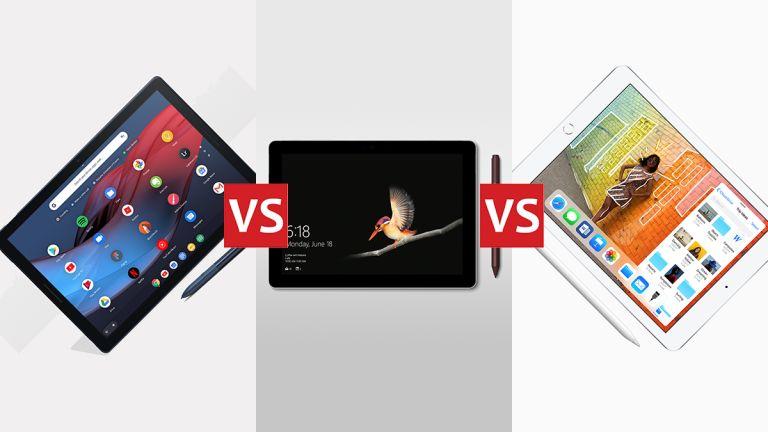Pixel Slate vs Surface Go vs iPad 2018