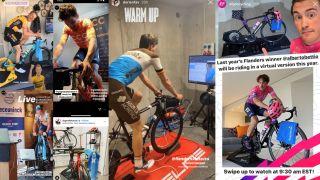 Pro peloton's indoor training and eracing set-ups