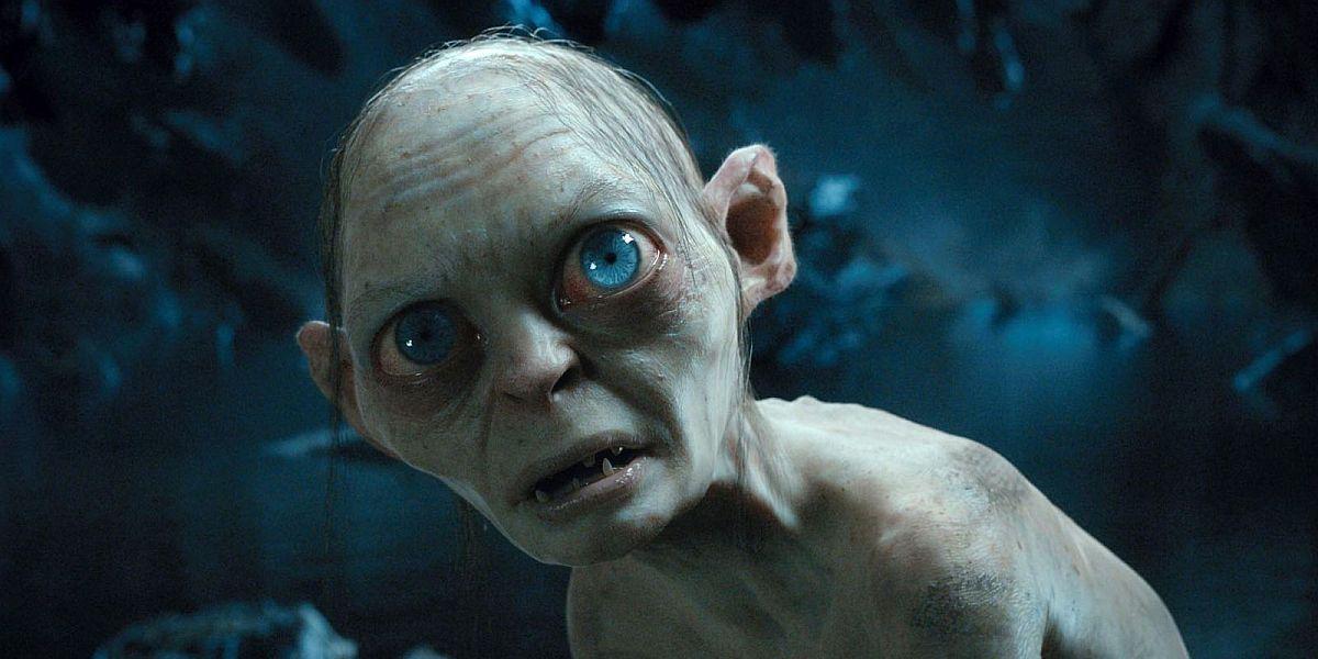 Andy Serkis as Gollum looking sad
