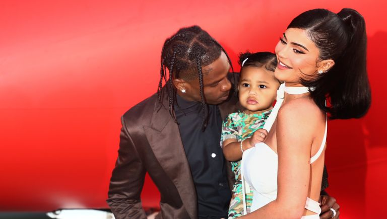 """Kylie Jenner and Travis Scott attend the Travis Scott: """"Look Mom I Can Fly"""" Los Angeles Premiere at The Barker Hanger on August 27, 2019 in Santa Monica, California"""