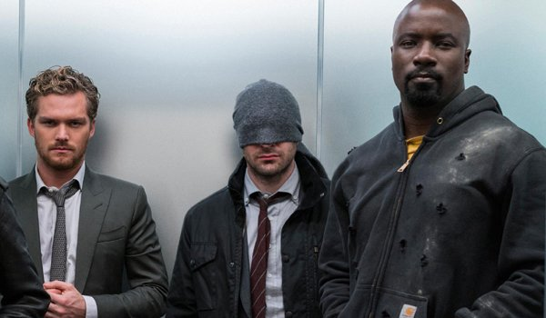 Iron Fist, Daredevil, and Luke Cage, in the Marvel Netflix series The Defenders