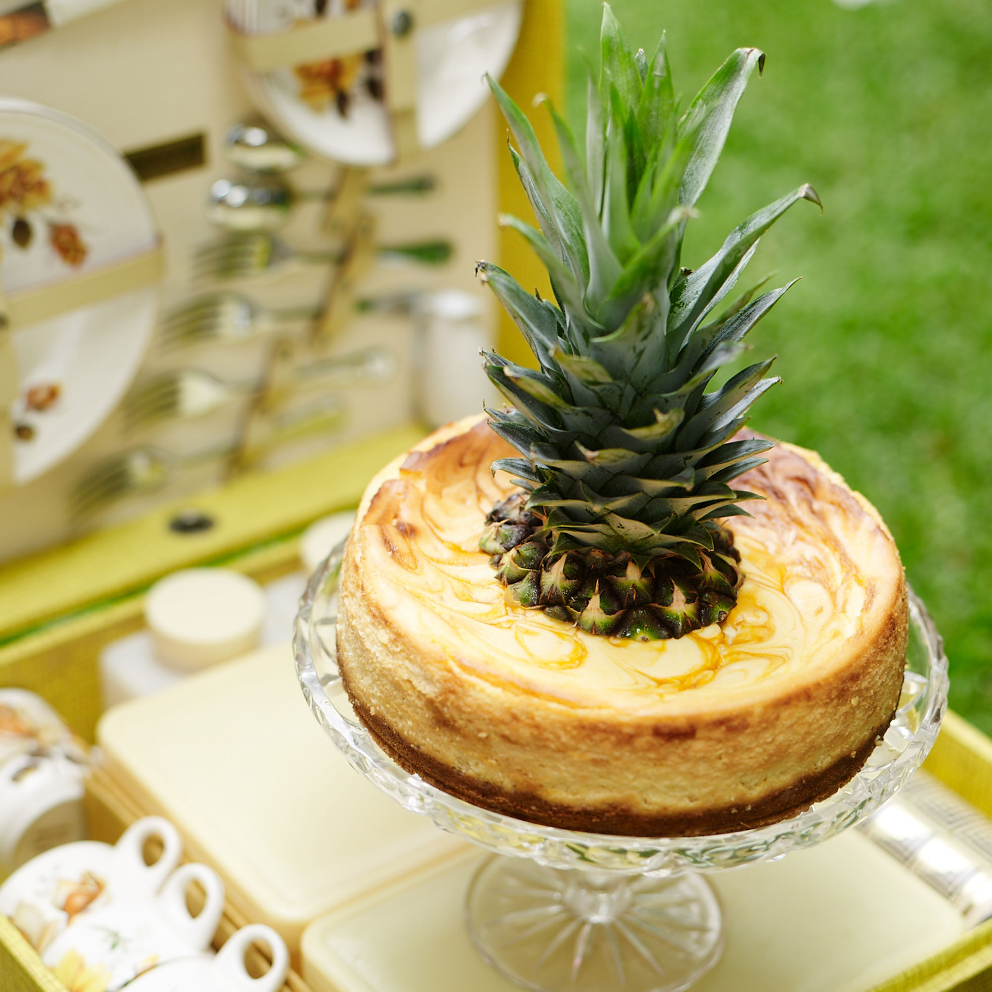 This pineapple and passionfruit cheesecake will add the perfect summer flavours to your table