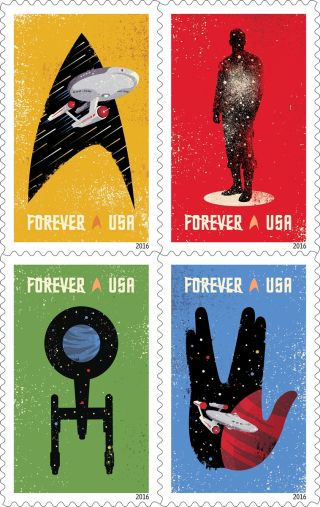 'Star Trek' 2016 Postage Stamps
