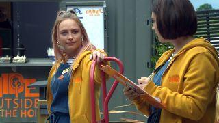 Victoria Sugden and Amy Wyatt in Emmerdale