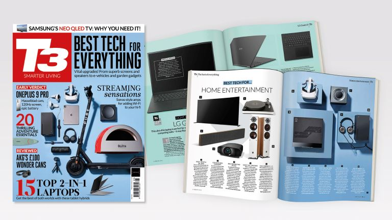 Cover of T3 issue 320 featuring the cover line 'Best tech for everything'.