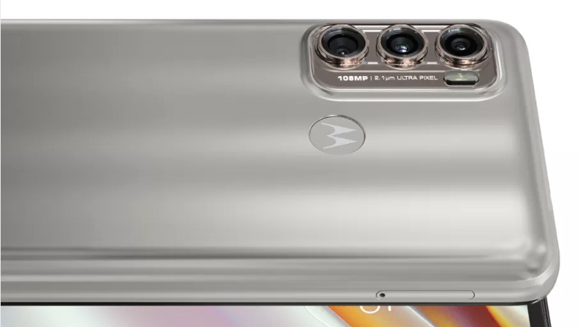 A close up render of the back of the Moto G60