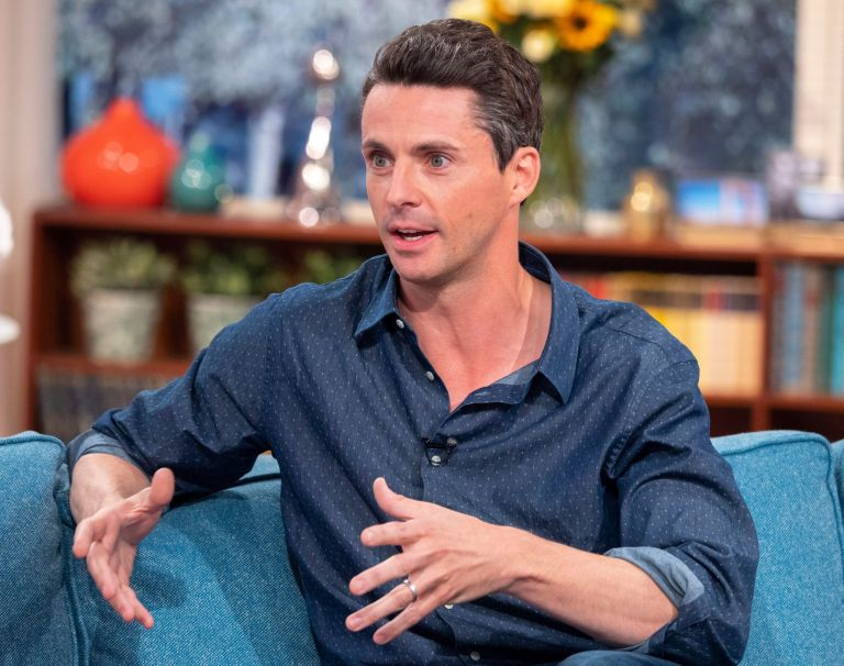 EDITORIAL USE ONLY. NO MERCHANDISING Mandatory Credit: Photo by Ken McKay/ITV/REX/Shutterstock (9881057bg) Matthew Goode 'This Morning' TV show, London, UK - 13 Sep 2018 DOWNTON'S MATTHEW GOODE ON SWAPPING BONNETS FOR BLOOD! He's the period drama heartthrob who stole our hearts in Downton Abbey - and Princess Margaret's in The Crown. But his next role is worlds away from Buckingham Palace and Highclere Castle, as Matthew Goode gets his teeth stuck into becoming vampire Matthew Clairmont. Swapping life with lords and ladies for blood and witchcraft, Matthew joins us to talk about starring in Sky 1's 'A Discovery of Witches,' why he's embracing his most evil character to date and he'll also be putting those Downton movie rumours to rest.