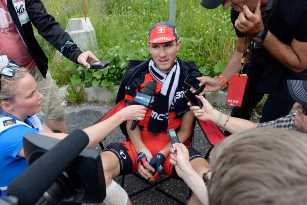 Tejay Van Garderen on stage fourteen of the 2014 Tour de France