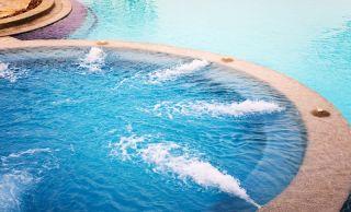 An outdoor hot tub
