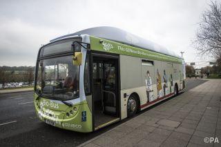 British poo-powered bus, human waste fuel