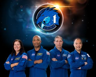 From left to right, NASA astronauts Shannon Walker, Victor Glover and Michael Hopkins and Japan Aerospace Exploration Agency astronaut Soichi Noguchi. The four will launch to the International Space Station on SpaceX's Crew-1 mission.
