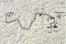 The new route of stage 20 of the 2013 Giro d'Italia