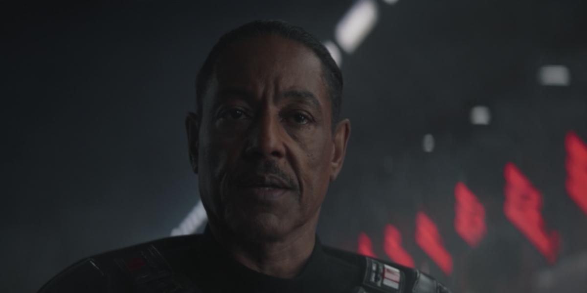 the mandalorian moff gideon dark troopers disney+ screenshot