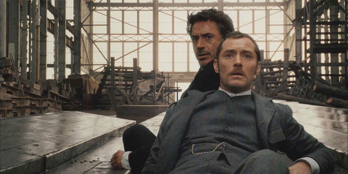 Robert Downey Jr. and Jude Law in Sherlock Holmes