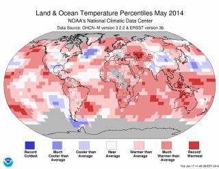 Surface temperatures May 2014
