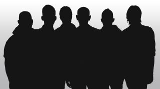 Band in silhouette