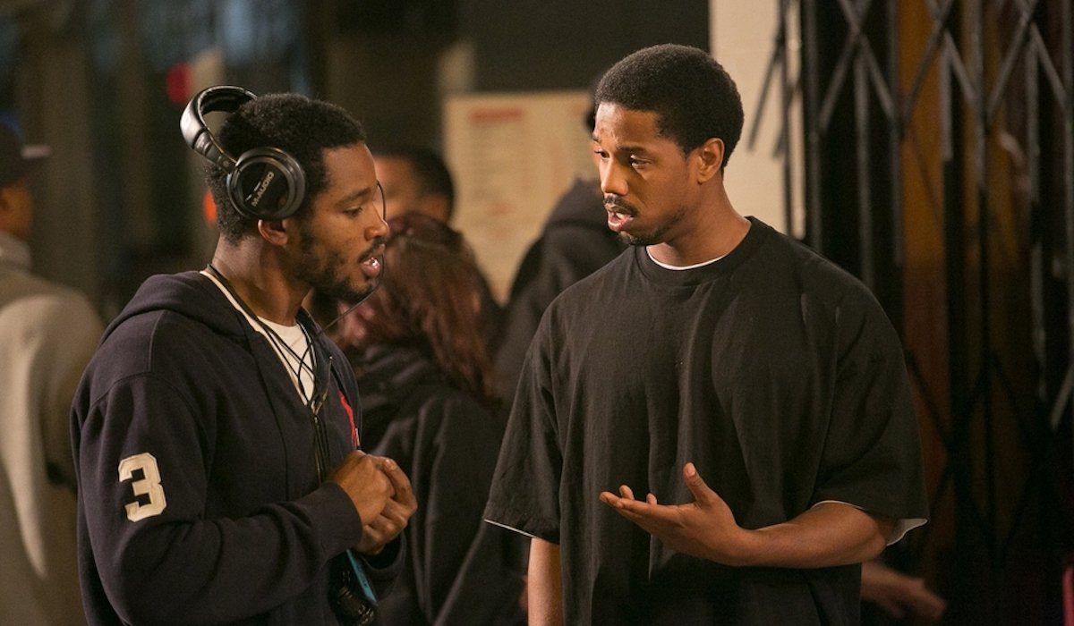 Ryan Coogler and Michael B. Jordan on the set of Fruitvale Station