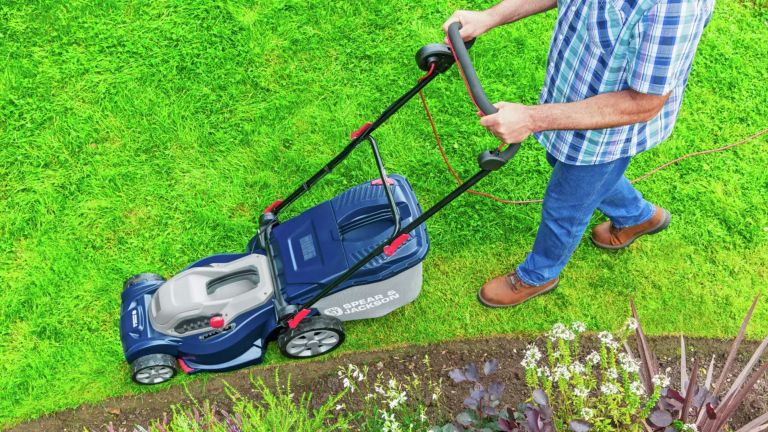 best lawn mower deals: Spear & Jackson 40cm Corded Rotary Lawnmower