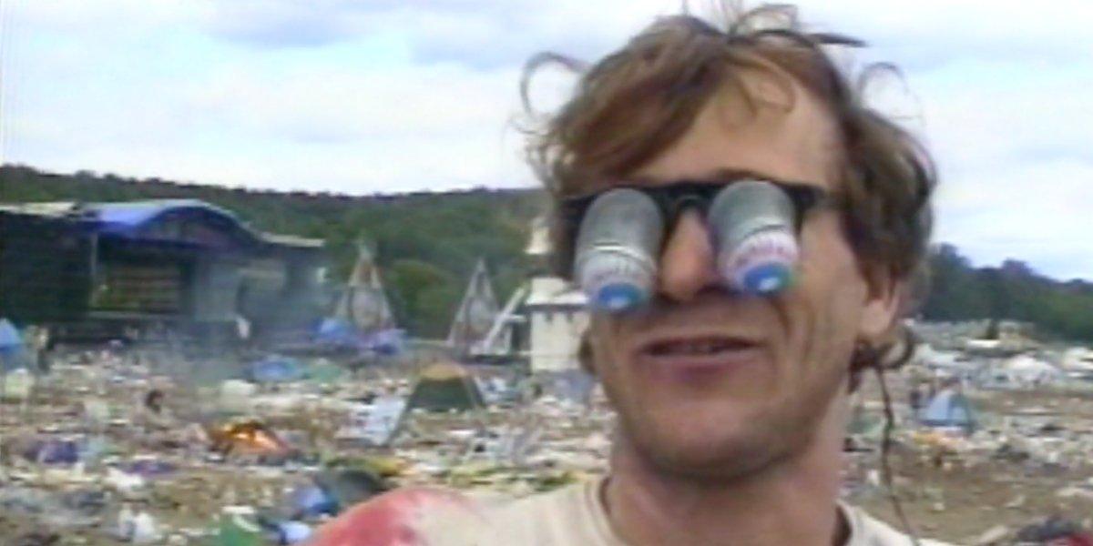 A festival attendee in Woodstock '94 Festival Summer